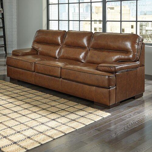 Trent Austin Design Montague Leather Sofa Wayfair Ca