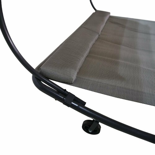 Abba Patio Outdoor Portable Double Chaise Lounge With Sun