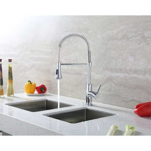 Luxier Single Handle Deck Mounted Standard Kitchen Sink Faucet