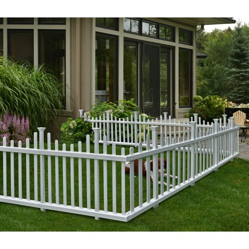 Zippity Outdoor Products Madison No Dig Vinyl Picket