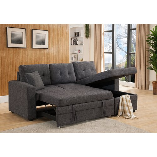 Weymand Reversible Chaise Sectional Sofa $629.99  sc 1 st  dealepic : velvet chaise - Sectionals, Sofas & Couches