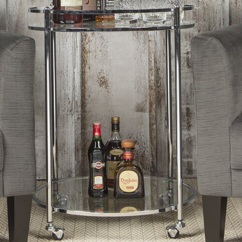 Veranda glass bar cart