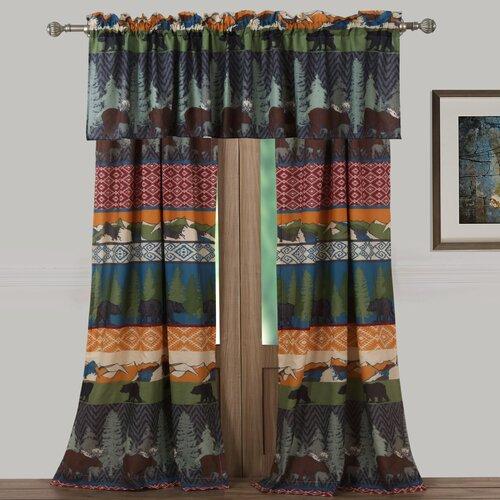 Greenland Home Fashions Black Bear Lodge Window Curtain Panels ...