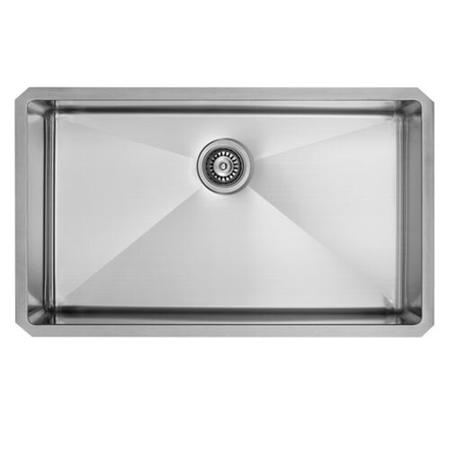 Vigo 32 Inch Undermount Single Bowl 16 Gauge Stainless Steel
