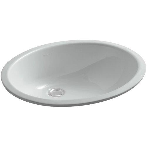 Kohler Caxton Undermount Bathroom Sink with Overflow and Clamp Assembly. Kohler Caxton Undermount Bathroom Sink with Overflow and Clamp