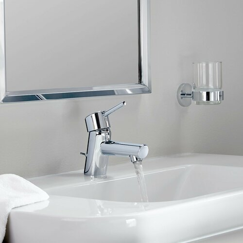 Grohe Concetto Single Hole Single Handle Bathroom Faucet With Drain Assembly