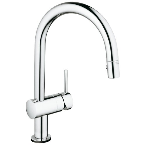 Grohe Minta Single Handle Deck Mount Kitchen Faucet With Dual