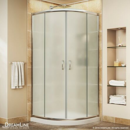Delightful Bold, Neo Round Frameless Sliding Shower Enclosure