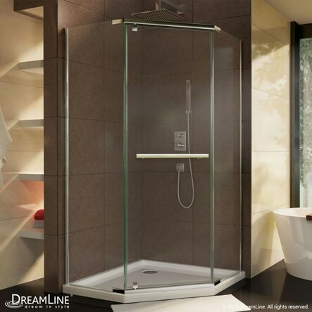 Neo Round, Frameless Pivot Shower Enclosure