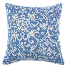 Vintage Floral Outdoor Throw Pillow