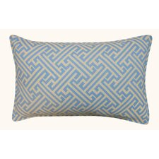 Modern Wave Maze Outdoor Lumbar Pillow