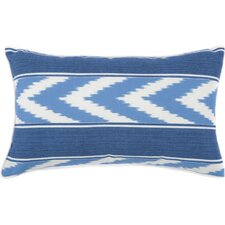 Ikat Stripe Outdoor Lumbar Pillow