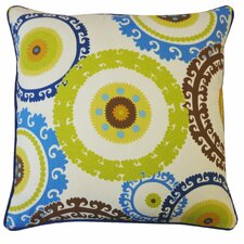 Buttons Outdoor Throw Pillow