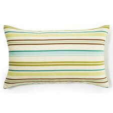 Thin Horizontal Stripes Indoor/Outdoor Lumbar Pillow