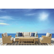 Leucadia 4 Piece Deep Seating Group with Cushions