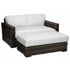 Bargain Montecito Double Chaise Lounge with Cushions