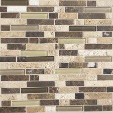 Stone Radiance Random Sized Slate Mosaic Tile in Honed Morning Sun / Tortoise / Mushroom