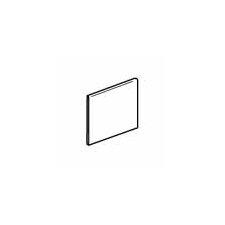 """Sandalo 6"""" x 6"""" Surface Bullnose Tile Trim in Castillian Gray (Set of 3)"""