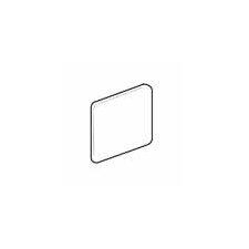 """Sandalo 6"""" x 6"""" Surface Bullnose Corner Tile Trim in Serene White (Set of 3)"""