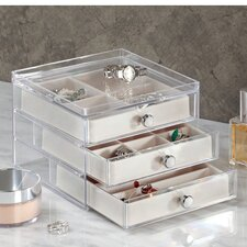3 Drawer Slim Jewelry Box