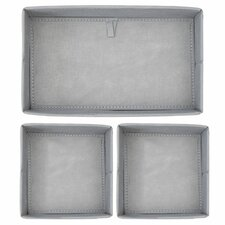 "Aldo 4""H x 7.25"" W x 6.5"" D Drawer Organizer (Set of 3)"
