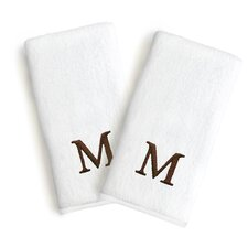 Soft Twist Monogrammed Hand Towel (Set of 2)