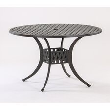 Top Reviews Basket Weave Round Cast Aluminum Bistro Table