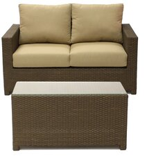Metro Loveseat with Cushion and Coffee Table