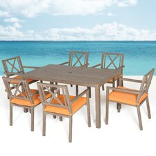 Avalon 7 Piece Dining Set with Cushions