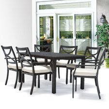 Wonderful Verona 7 Piece Dining Set with Cushions