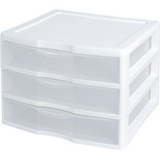 ClearView 3-Drawer Storage Chest (Set of 3)