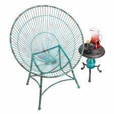 Saint-Tropez Sculptural Metal Hoop Garden Chair
