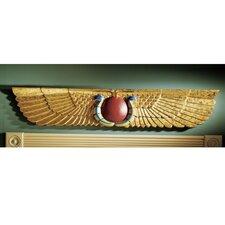 Egyptian Temple Sculptural Pediment Wall Décor