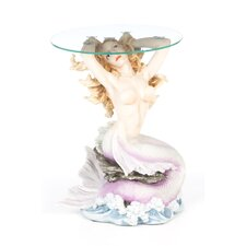 Mermaid of Magellan's Cove Glass Topped Statue Table