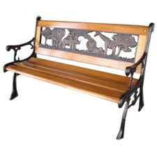 Jungle Cast Iron Park Bench