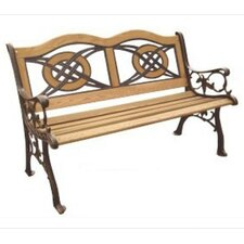 Lovely Kokomo Wood and Cast Iron Park Bench