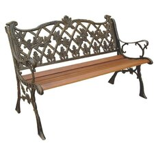 Sicilian Wood and Cast Iron Park Bench