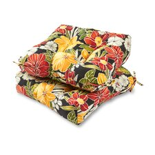 Aloha Outdoor Dining Chair Cushion (Set of 2)