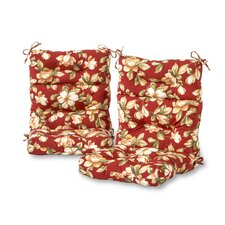 Roma Floral High Back Outdoor Lounge Chair Cushion (Set of 2)