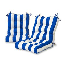 Cabana Stripe Outdoor Lounge Chair Cushion (Set of 2)