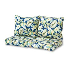 Marlow Floral 4 Piece Outdoor Loveseat Cushion Set