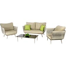 Renava Zoe Outdoor 9 Piece Lounge Seating Group with Cushion