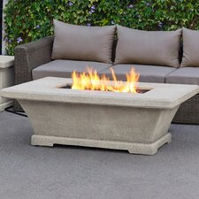Lovely Real Flame 11704LP Monaco Rectangle Low Propane Fire Table