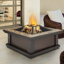 Alderwood Steel Gel/Wood Fire Pit Table