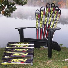 Fresh Fischer Ski Adirondack Chair and Ottoman