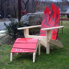 Water Ski Adirondack Chair and Ottoman