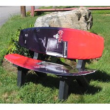 Wake Board Recycled Plastic Garden Bench