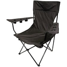 Outdoor Giant Kingpin Folding Chair in Black