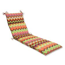 Zig Zag Outdoor Chaise Lounge Cushion