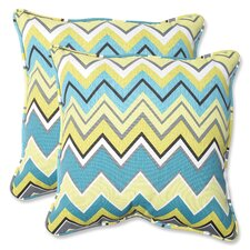 Zig Zag Indoor/Outdoor Throw Pillow (Set of 2)